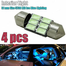 4pc 5730 LED Aqua Ice Blue 31MM DE3175 3022 Car Interior Map Dome Light Bulb D4