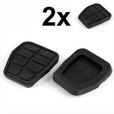 2x Black Rubber Anti-Slip Clutch Brake Pedal Pad cap Fits VW Golf Audi 321721173