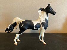 Retired Breyer Horse # 1141 American Saddlebred Stallion Black White Pinto Matte