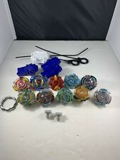 Beyblade Lot Of 10: Beyblades Tops and Tips - 3 Complete Launchers