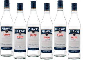 6 Flaschen Pilavas Ouzo Nektar 700ml 38%vol