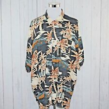 After Dark by Falcon Bay 4XL Aloha Hawaiian Shirt Palm Trees Loop Collar Tropic