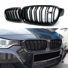 Black Front Hood Kidney Grille Grill For BMW 3-Series F30 F35 2012-2015