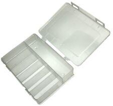 Caja organizadora transparente 180x149x40mm con 7 compartimentos plástico