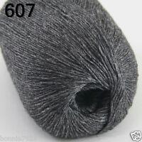 NEW Luxurious Soft 50g Mongolian Pure 100% Cashmere Hand Knitting Wool Yarn 607