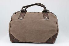 UGG COLLECTION RUGGED OVERNIGHTER BROWN LEATHER CANVAS LUGGAGE BAG TOTE