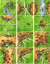 3 Carcassonne Expansions Promo from Games Quarterly Magazine 12 Tiles per sheet