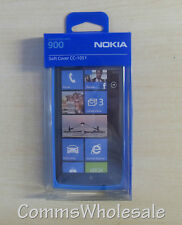 Genuine Original Nokia Lumia 900 Protective Soft Cover Bumper CC-1051 Blue