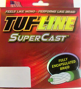 TUF LINE SUPERCAST PREMIUM BRAIDED FISHING LINE  300 YDS YELLOW