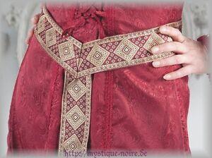Medieval Renaissance Tudor Ladies Brocade Belt Larp Reenactment SCA 4 Colors