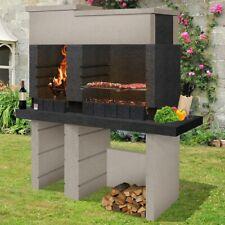 Barbecue a muratura San Pedro Sarom in calcestruzzo alleggerito carbonella legna