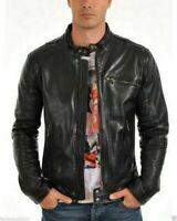Noora Men's Motorcycle Leather Jacket Lambskin Biker Highyway Jacket Slim NI-41