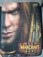 WARCRAFT 3 REIGN Of CHAOS POSTER 20x27 inches SIGNED BY DEV TEAM