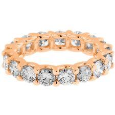 3.50Ct Round cut 14K Rose Gold anniversary Eternity diamond engagement ring