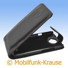 Flip Case Etui Handytasche Tasche Hülle f. HTC One X (Schwarz)