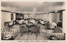 CF85.Vintage Postcard. R.M.S. Queen Elizabeth.Tourist Lounge