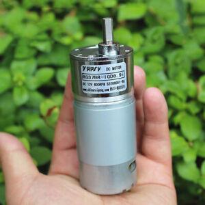 37mm DC5V-12V 800RPM Slow Speed Mini 555 Full Metal Gear Box Motor Large Torque