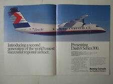 4/1989 PUB BOEING CANADA DE HAVILLAND DASH 8 300 TIME AIR REGIONAL AIRLINE AD