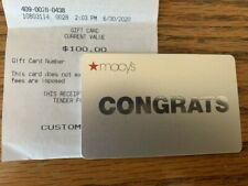 $100 Macy's Gift Card Physical Card to Be Sent