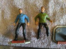Lot 10 - Star Trek Kirk, Spock Figures - Metal - Built