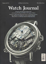 NEW! WATCH JOURNAL September 2015 BREGUET Watches The Fashion Issue Polo Bar NY