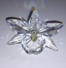 Swarovski Crystal Orchid Rare Pale Yellow Center Stamen Beautiful Piece!