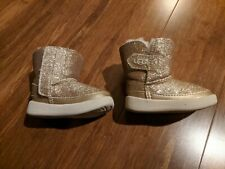 UGG Keelan Glitter Gold Baby Boots, Size 2/3 6-12 Months 1096313I INF/GOLD