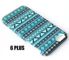 For iPhone 6+ / 6S+ Plus - HARD&SOFT RUBBER HYBRID SKIN CASE TEAL GREEN AZTEC