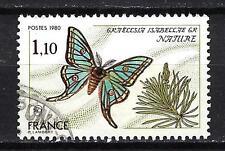 France 1980 papillon n° 2089 oblitéré 1er choix (2)