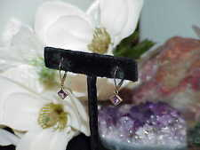 5mm Amethyst Lever Earrings 14k Yellow Gold Women's Square Dangle Vintage New
