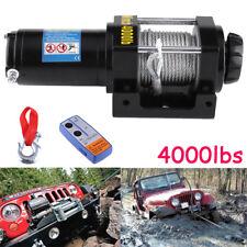 12V 4000lb Treuil de bateau voiture de électrique de câble en acier de treuil