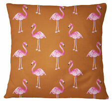 S4Sassy Rust Orange Decorative Flamingo Printed Pillow Cover Throw-Zpe
