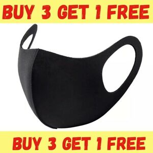 Adult Reusable And Washable And Breathable Face Mask Black