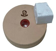 "3"" (3/4"" Width) Leather Honing Wheel - Buffing Compound Incl"