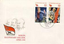 Ersttagsbrief DDR MiNr. 2596, 2597, Parteitag der Sozialistischen Einheitspartei