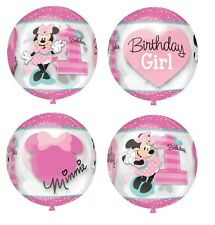 Disney Baby Minnie Mouse 1st Birthday 4 Picture Orbz Balloon Party Decor