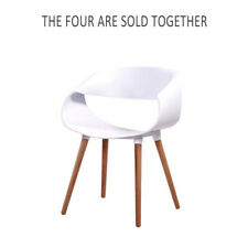 2/4x Retro Replica Eames Eiffel DAW Simple Dining Chairs Kitchen Armchair