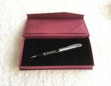 Metall Kugelschreiber Diamant Imitat mit Persönlicher Gravur im Burgund Etui