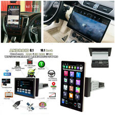 1Din 10.1In Android 8.1 4-core Car Stereo Radio Player BT GPS WIFI 3G 4G DAB OBD