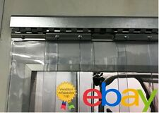 Porta industriale a strisce in pvc trasparente - divisorio - con binario zincato