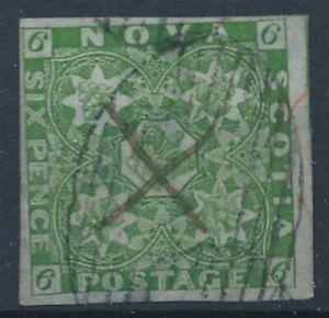[56377] Nova Scotia 1851 Very good full margins Used VF stamp $850