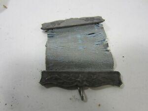 Antique Coin Silver Ribbon Holder Pin