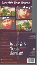 CD--DETROIT'S MOST WANTED -- - IMPORT -- MANY FACES OF DEATH