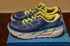 Hoka One One Women's Clifton 2 True Blue/Sunny Lime Running Shoes 6