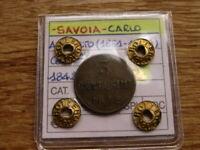 Sardinia 3 centesimi 1842 Nigh Grade, RARE!