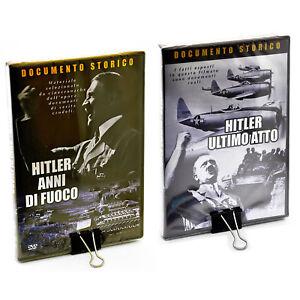ADOLF HITLER DVD ANNI DI FUOCO + ULTIMO ATTO OSCAR ROY documentario guerra ww2