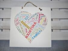 Birthday Heart Decorative Wall Plaques