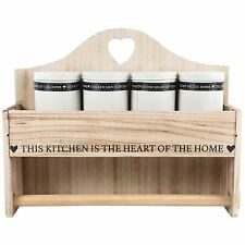 Wooden Kitchen Towel Paper Roll Holder Container Storage Wall Mount Rack Stand