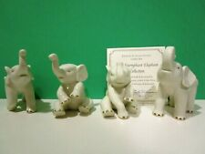 Lenox The Triumphant 4 Elephant Collection New in Cardboard Box with Coa