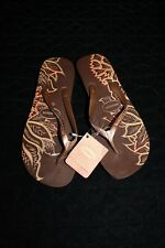 92672522d9b44b Havaianas Womens Flip Flops High Light II Sandal Wedge Brown Rose Gold NWT  41-42